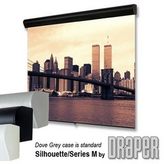 Draper 202047 Silhouette Series M Manual, 96 in. x 96 in. AV Format Contrast Grey XH800E Surface